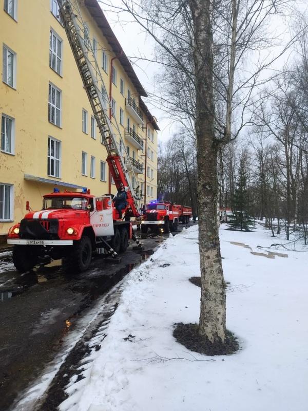 Условный пожар потушили в здании АО «Курорт Старая Русса»